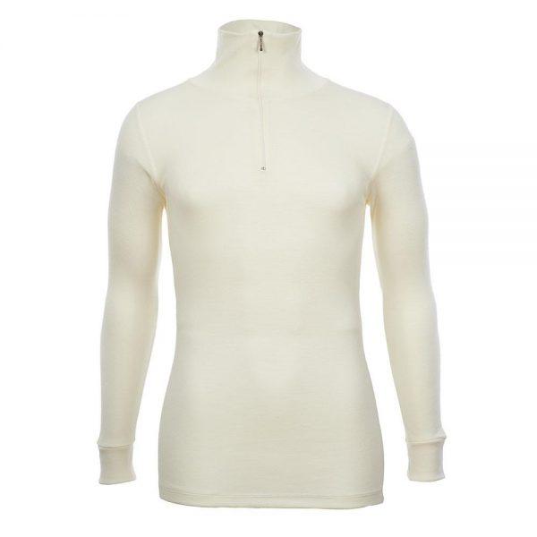 Unisex Long Sleeve Half Zip Front