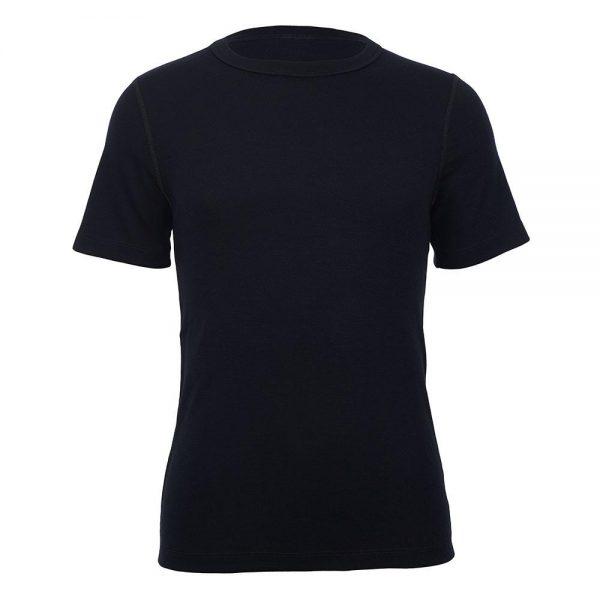 merino skins short sleeve crew neck black unisex