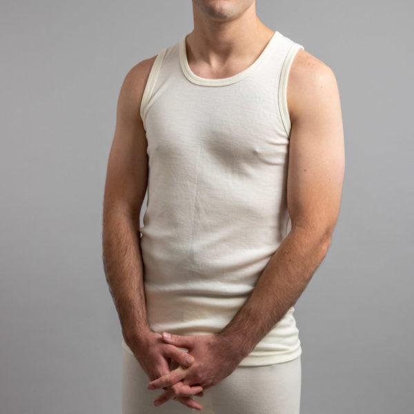Front view of Thermo Fleece – Men's Sleeveless Athletic – 100% Merino Wool