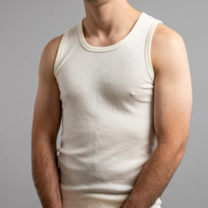 Front view of Thermo Fleece – Men's Sleeveless Athletic – 100% Merino Wool