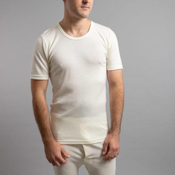 Front view of Thermo Fleece – Men's Short Sleeve Top – 100% Merino Wool