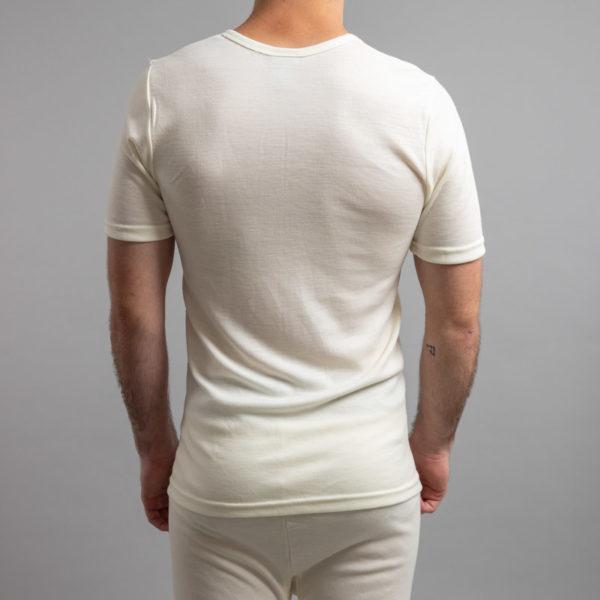 Rear view of Thermo Fleece – Men's Short Sleeve Top – 100% Merino Wool