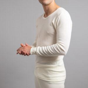 Side view of Thermo Fleece – Men's Long Sleeve Top – 100% Merino Wool