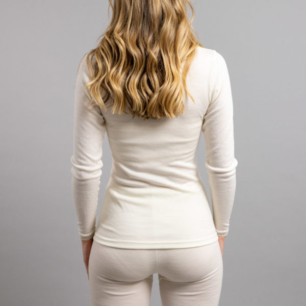 Rear view Thermo Fleece – Ladies Long Sleeve – Lace Motif
