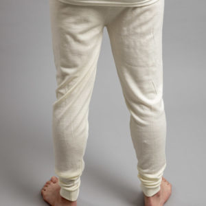 Male wearing White SPLJ Merino Skins – Unisex Long John / Pant