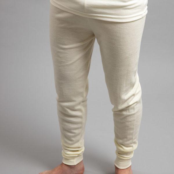 Male wearing White SPLJ Merino Skins – Unisex Long John / Pant