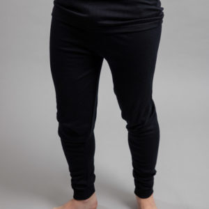 Male wearing Black SPLJB Merino Skins – Unisex Long John / Pant