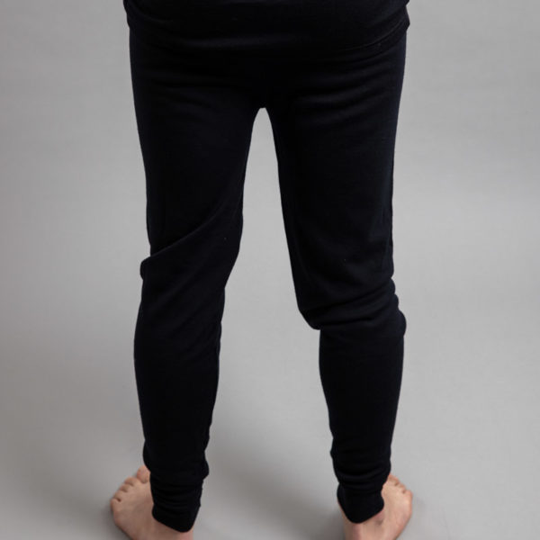 Male wearing Black SPLJB Merino Skins – Unisex Long John / Pant