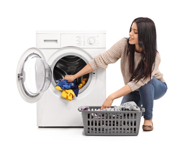 lady washing merino garments